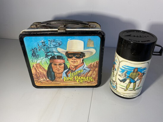 Vintage Legend of Lone Ranger Movie Lunchbox