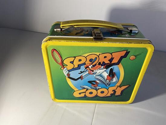Vintage Metal Lunchbox Sport Goofy