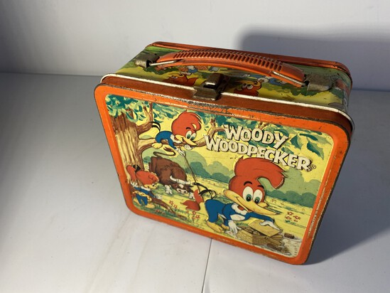 Vintage Metal Lunchbox Woody Woodpecker