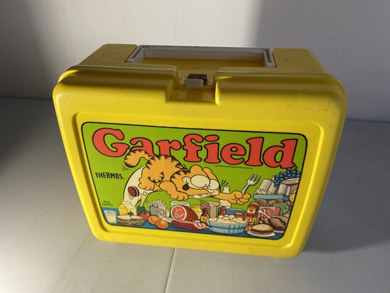 Vintage Plastic Lunchbox Garfield by Thermos