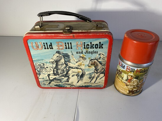 Vintage Metal Lunchbox with Thermos