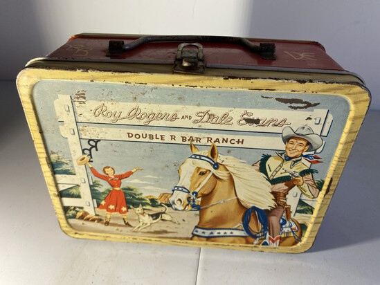 Vintage Metal Lunchbox - Roy Rogers