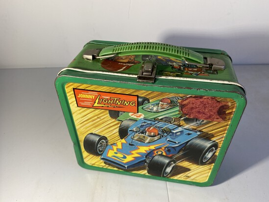 Vintage Metal Lunchbox Johnny Lightning