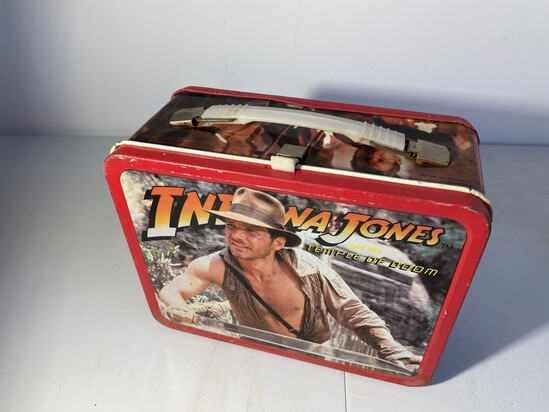 Vintage Metal Lunchbox Indiana Jones