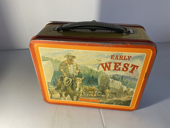 Vintage Metal Lunchbox Early West
