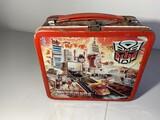 Vintage Aladdin Metal Lunch Box: Transformers by Hasbro