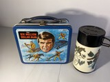 Vintage lunchbox with thermos Six Million Dollar Man