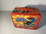 Vintage Metal Lunchbox Superman Batman