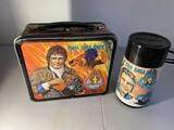Vintage Metal Lunchbox with Thermos - The Fall Guy