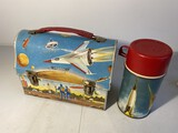 Vintage Metal Lunchbox Outer Space w/Thermos