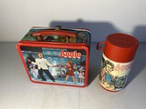 Vintage Metal Lunchbox Annie With Thermos