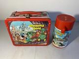 Vintage Metal Lunchbox Disney Wonderful World