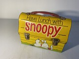 Vintage Metal Lunchbox Lunch With Snoopy