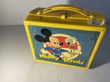 Vintage plastic lunchbox - Mickey & Donald