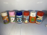 Group lot of 6 vintage lunchbox thermos bottles