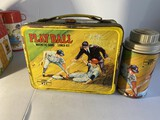 Vintage metal Play Ball Lunchbox with game