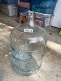 Large vintage glass Demijohn bottle