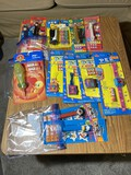 Group of assorted Pez dispensers in packaging