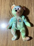 Very Rare Peace Bear Beanie Baby