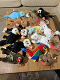 Large group of vintage Beanie Baby dolls