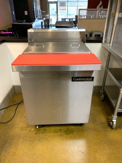 Continental Refrigerator Stainless Steel Prep Station Model SW27-12M