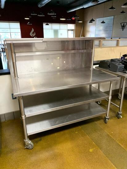 Stainless Steel Prep Table with Stainless Steel Backsplash