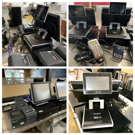 PAR POS System - Cash Drawers, Monitors, Credit Card Machine, & Printers