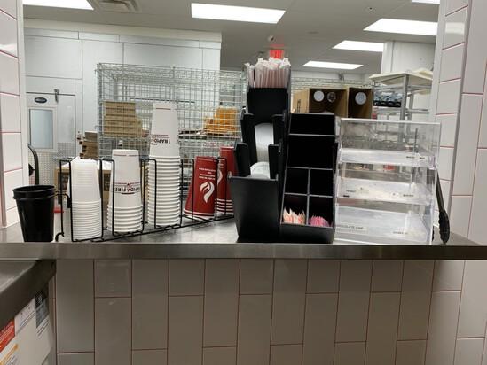 Condiments, Cups, & Cookie Station Display Racks