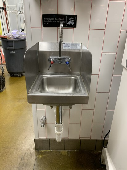 NSF Stainless Steel Hand Washing Station