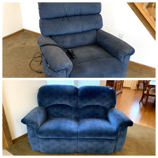 La -Z -Boy Power Recliner with Matching Reclining Loveseat