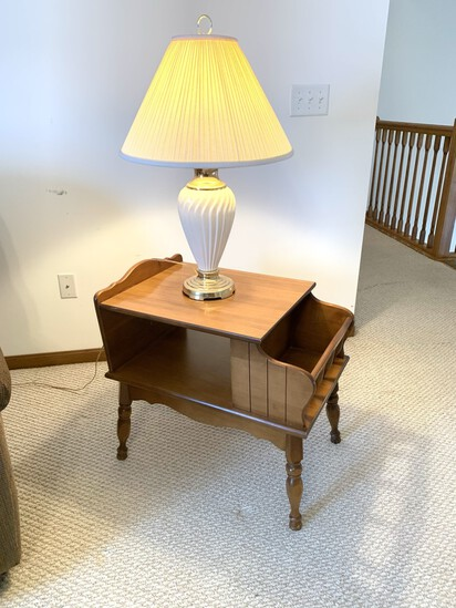 2 Side Tables and 2 Lamps