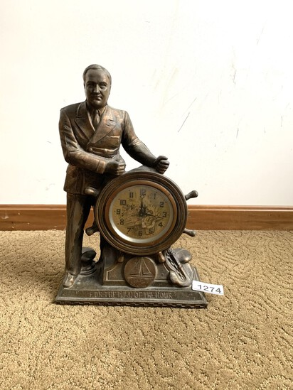 United Clock Corp, Brooklyn, N/Y FDR Man of the Hour Clock