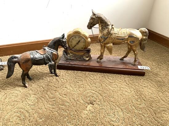 United Self Starting Horse Clock