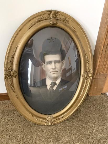 Vintage Photo Bubble Dome Glass Frame