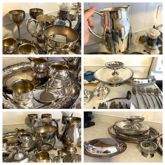 """Group of Silver Plate - Including Rogers Bros Flatware """"First Love"""""""