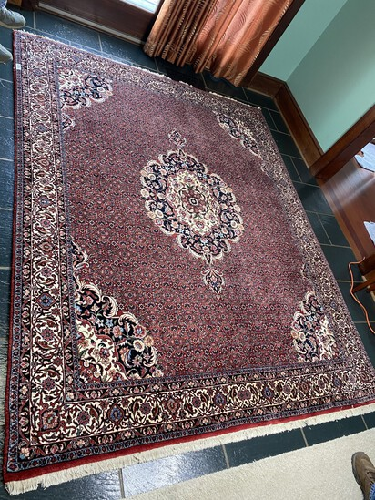 Large finely hand woven persian rug or carpet