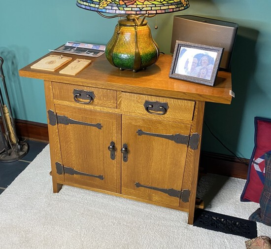 Stickley Roycroft Arts and Crafts Cabinet