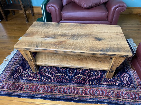 Antique heavy barnwood table