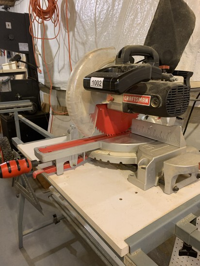 Craftsman 10 inch. Sliding Compound Miter Saw Laser Trac with Stand