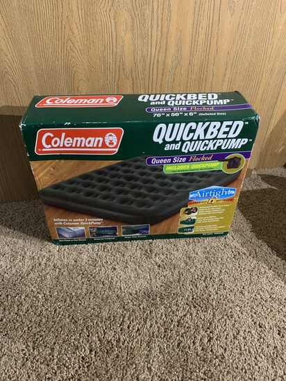 New Coleman Queen Sized Air Mattress