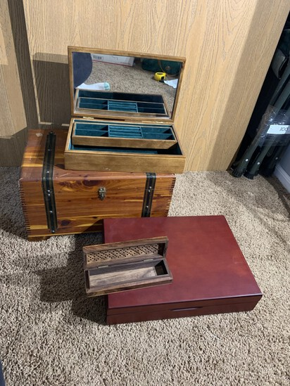 Chest, Flatware Box, Jewelry Box & More