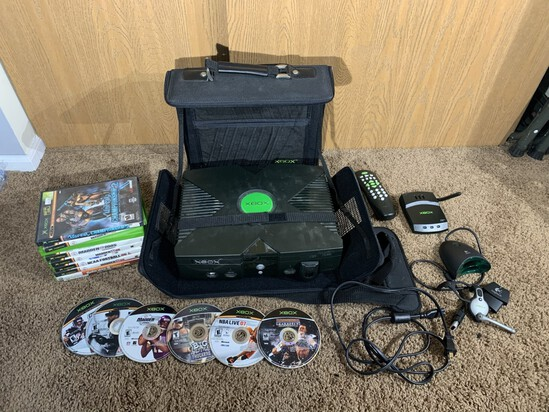 XBOX, Games, Accessories, & Bag