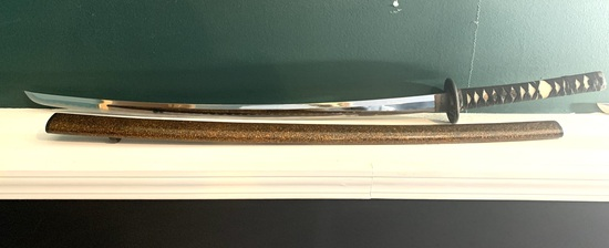 "Decorative Samurai Sword in Scabbard - 38"" long"