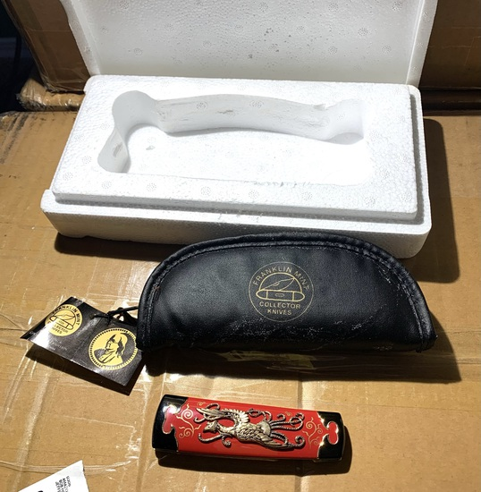 """Franklin Mint Asian Style Collector knife in box - 7.5"""" long"""