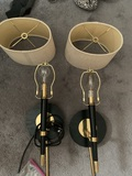 2 Wall Sconce Lights with Shades