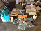 Nice Collection of Girl Scout Items, Buttons, Large Case of Bamboo Skewers & More