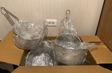 12 NEW Stainless Steel Fryer Baskets