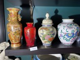 Group lot of Asian vases