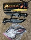 2 Gil Hibben Mortal Kombat Knives with Box and display