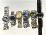 Group lot of men's watches including Fossil